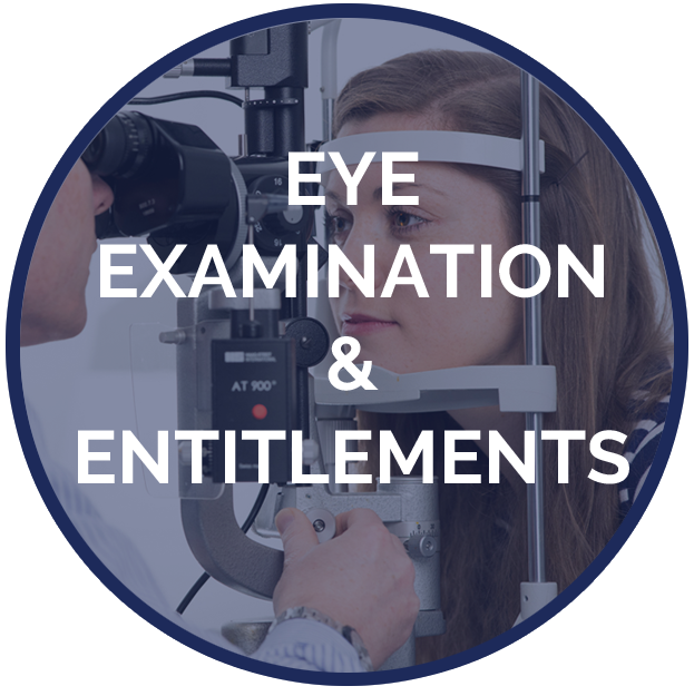 Service Page Eye Examination Entitlement Button